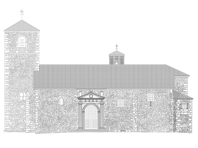 Alzado Principal Iglesia