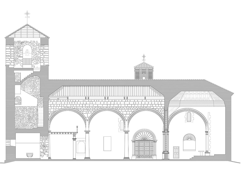 Seccion longitudinal iglesia