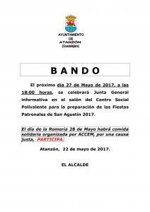 Bando Fiestas 2017 - 22 de mayo 2017