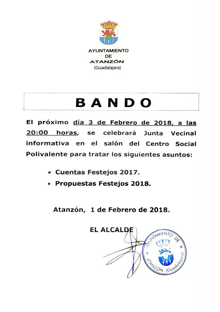 Bando 1 de febrero 2018