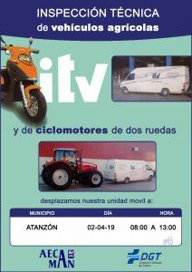 Inspección técnica de vehículos 2019 @ Atanzón, Guadalajara