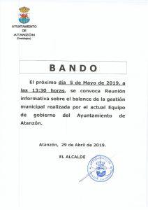 Bando mayo 2019